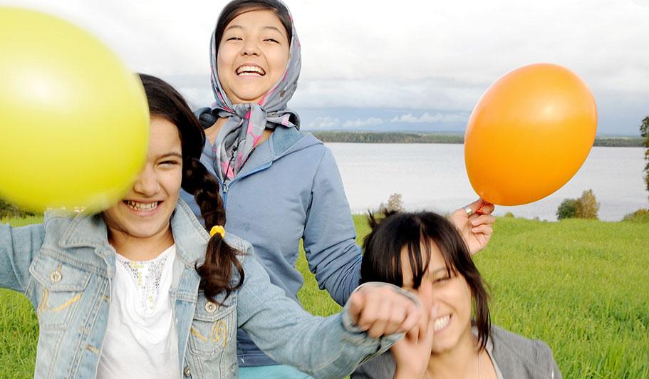ensamkommande barn glada Strömsunds kommun utvecklingsprojekt Framtids och utvecklings förvaltningen